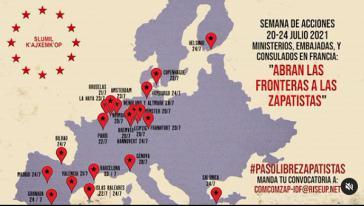 Vor französischen Konsulaten und Botschaften in mehreren europäischen Städten fanden Protestaktionen statt