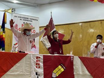 Verbündete: Verónika Mendoza vom Linksbündnis Gemeinsam für Peru und Präsidentschaftskandidat Pedro Castillo
