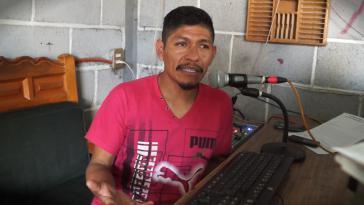 Samir Flores bei Radio Comunitaria Amiltzinko. Der Umweltschützer wurde 2019 erschossen