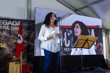 Marina do Santos von der MST-Leitung bei der Preisverleihung in Spanien