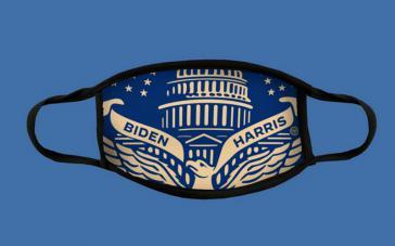Maske zur Amtseinführung von Joe Biden und Kamala Harris (15 Dollar im Shop bei joebiden.com)