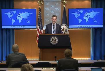 """Der Sprecher des US-Außenministeriums, Ned Price, beim """"Daily Press Briefing"""" am 3. Februar"""