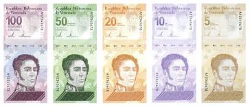 """""""Digitaler Bolívar"""":Die neuen Scheine von fünf  bis 100 BsD"""