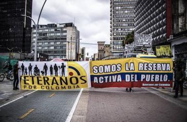 """""""Veteranen für Kolumbien: Wir sind die aktive Reserve des Volks"""""""