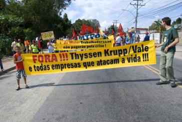 Bewaffnet gegen Gewerkschafter bei ThyssenKrupp