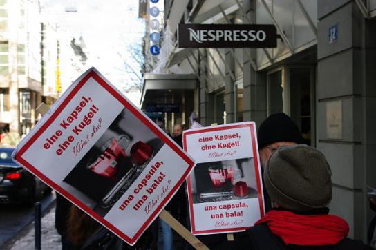 Protestaktion gegen Nestlé