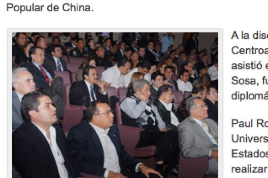 Publikum bei der Konferenz in Tegucigalpa
