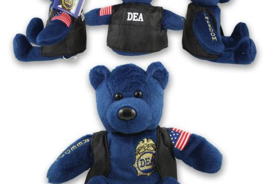 Werbung mit DEA-Teddy: Auch mit Drogenhändlern ging die Behörde auf Kuschelkurs