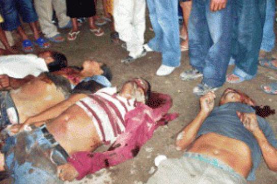 Ermordete Mauern in der Region Aguan im Norden bon Honduras