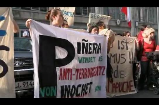Protest von in Berlin lebenden Chilenen