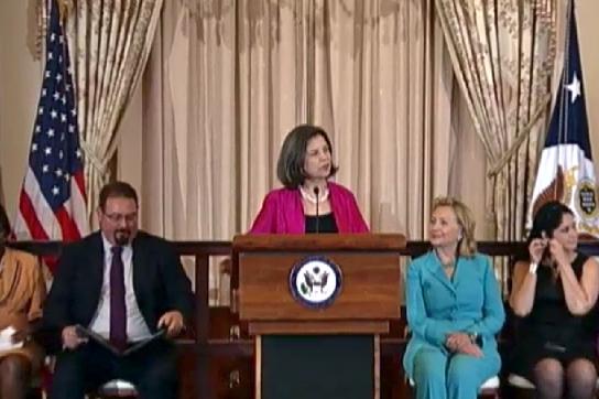 Ministerialrätin Maria Otero bei der Präsentation des Berichtes