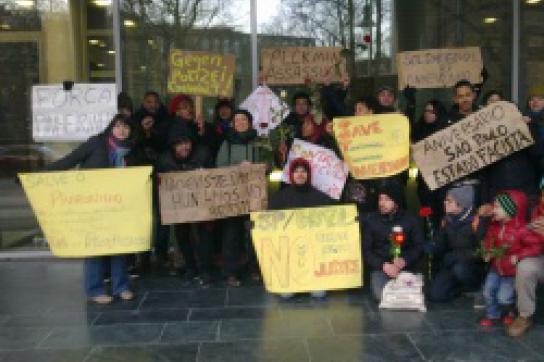 Protest gegen Zwangsräumung Pinheirinho