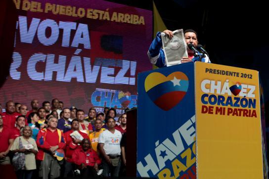 Hugo Chávez im Bundesstaat Falcón