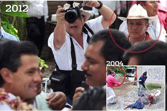 Enrique Peña Nieto feiert mit Schlägern