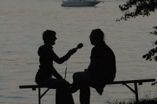 Interview beim Radiocamp
