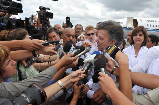 Präsident Santos in Havanna