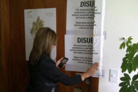 Versiegeltes Büro der Stiftung Pachamama in Quito