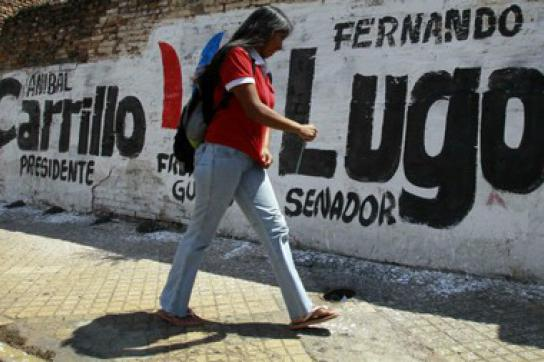 Graffiti der Frente Guasú