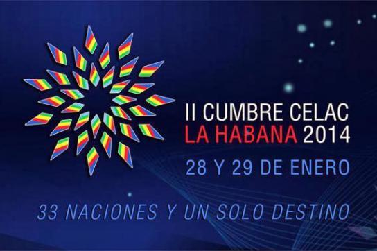 """Das Logo des Celac-Gipfels in Havanna:  """"33 Nationen und eine einzige Bestimmung"""