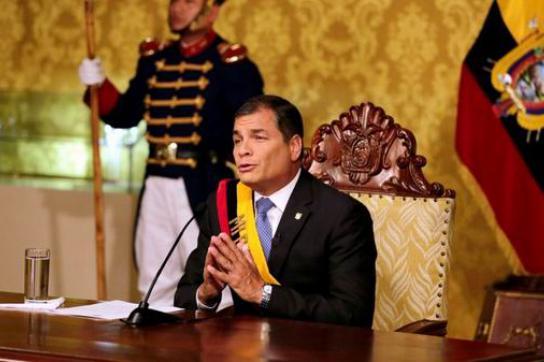 Präsident Correa rief die Opposition zum Dialog und Gewaltverzicht auf