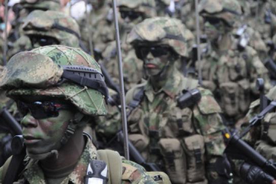 Militärs in Kolumbien
