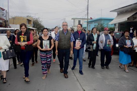 Protestmarsch der Angehörigen und Freunde in Tierra Blanca
