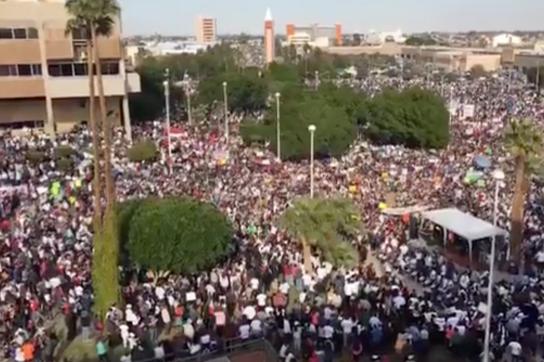 Protest gegen die Privatisierung von Wasser in Baja California, Mexiko