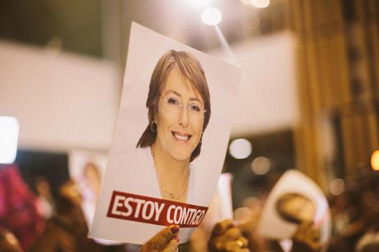 Bild aus dem Wahlkampf von Michelle Bachelet in Chile