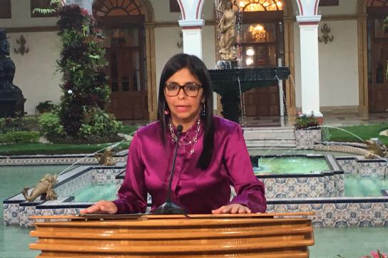 Die Außenministerin von Venezuela, Delcy Rodríguez