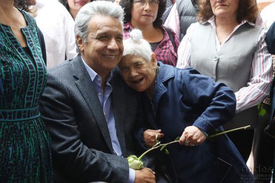 Lenín Moreno bei einer Wahlveranstaltung in Ecuador