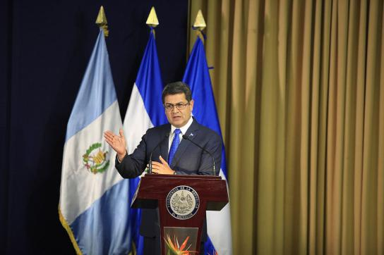 Der amtierende Präsident von Honduras, Juan Orlando Hernández