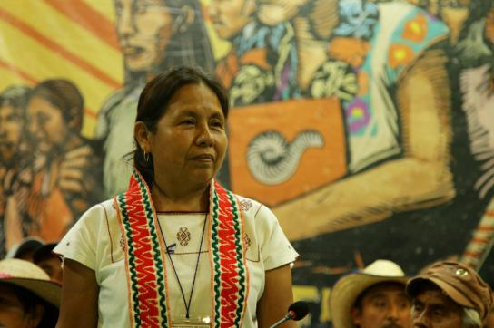 María de Jesús Patricio Martínez Indigenen Regierungsrat in Mexiko