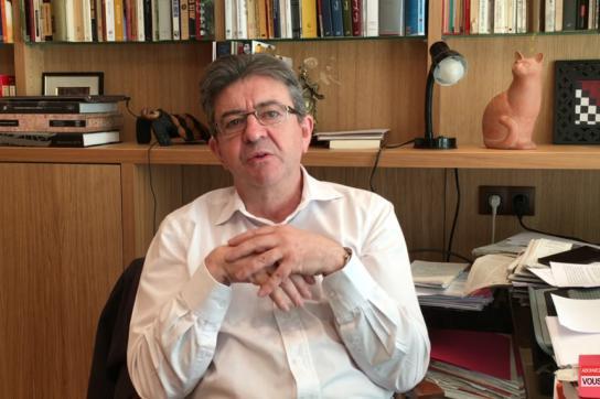 Frankreichs linker Präsidentschaftskandidat Jean-Luc Mélenchon