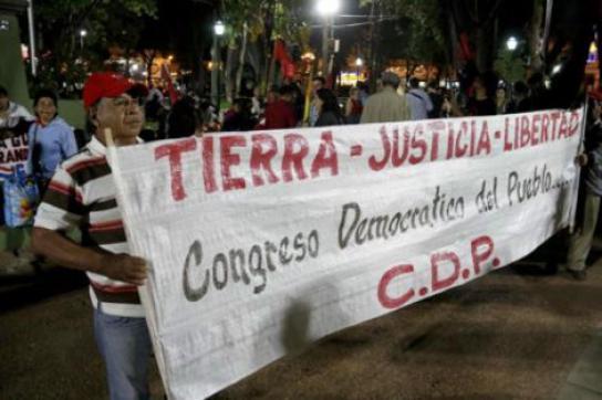 Der Demokratische Volkskongress hatte zur Demonstration in Paraguay aufgerufen