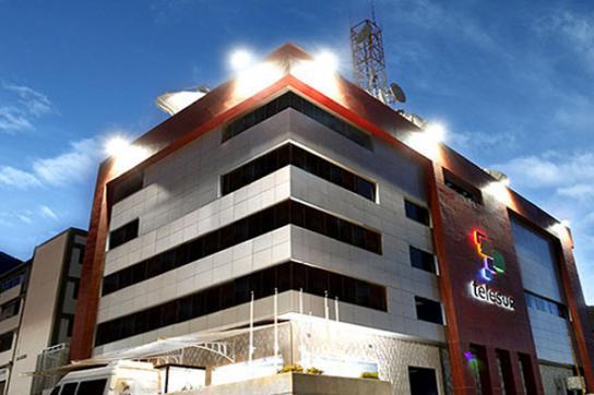 Sitz von Telesur in Caracas, Venezuela