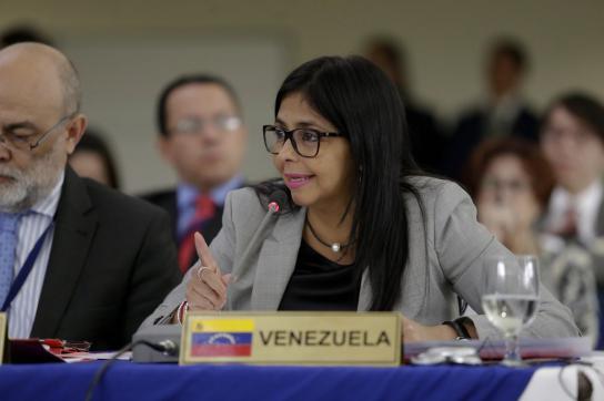 Außenministerin von Venezuela, Delcy Rodríguez, auf dem OAS-Gipfel