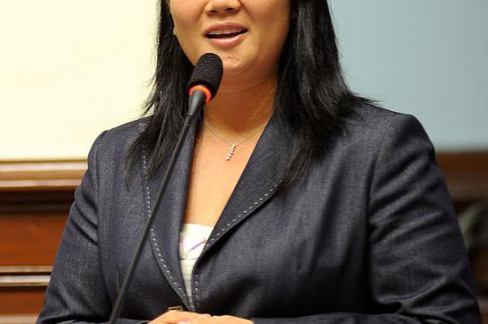 Gegen Keiko Fujimori laufen Ermittlungen wegen Geldwäsche.