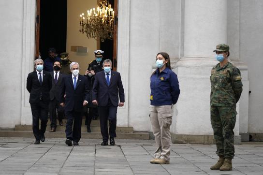 Präsident Piñera bei der Verkündung des neuen Gesetz